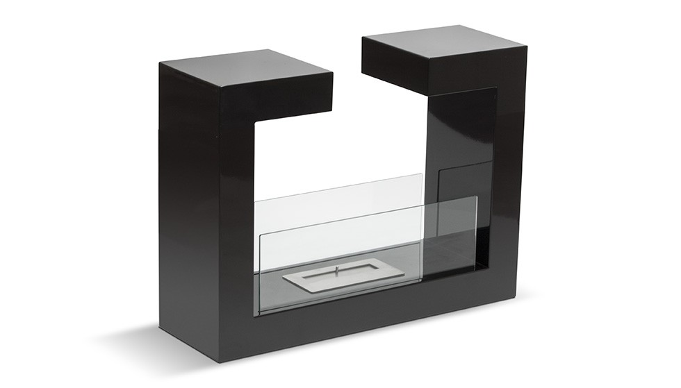 foyer bioethanol design berlin noir ou blanc brillant. Black Bedroom Furniture Sets. Home Design Ideas