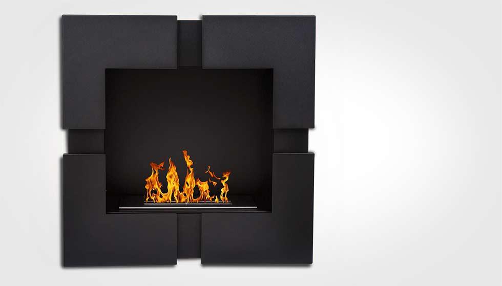 cheminee ethanol carré quattro black 3000 watts