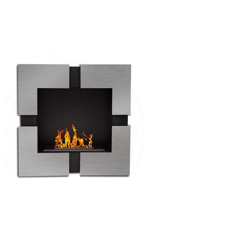 cheminee bioethanol carr e inox quattro vario 3kw. Black Bedroom Furniture Sets. Home Design Ideas