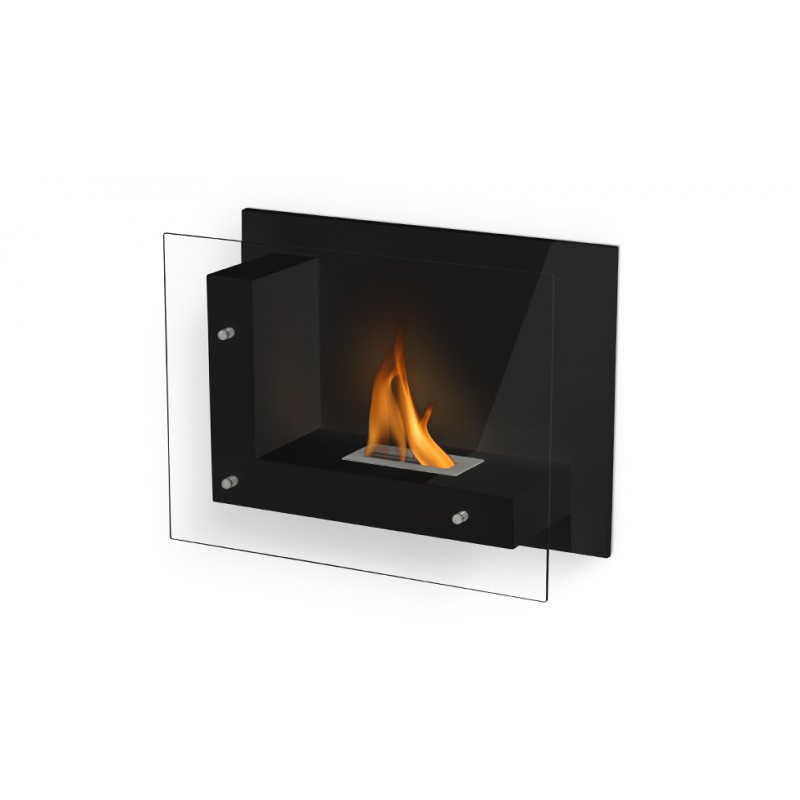 Foyer mural vitr brisbane 2700 watts noir ou blanc brillant - Prix ethanol cheminee ...