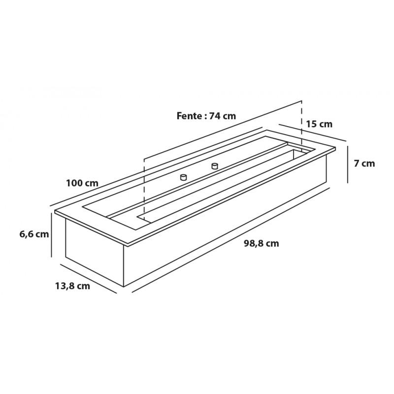 bruleur ethanol 100 cm. Black Bedroom Furniture Sets. Home Design Ideas