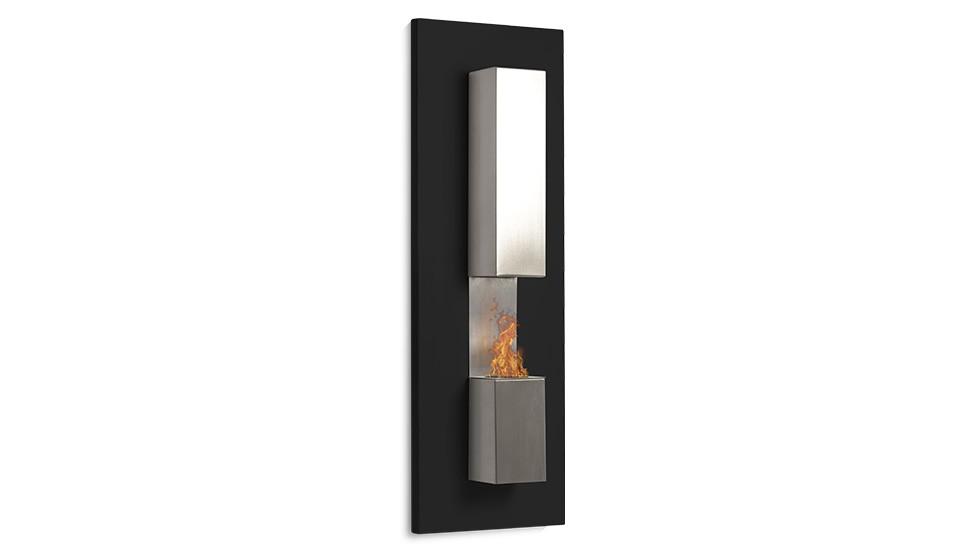 chemin e ethanol verticale 90 x 30 cm mod le murale kaptur. Black Bedroom Furniture Sets. Home Design Ideas